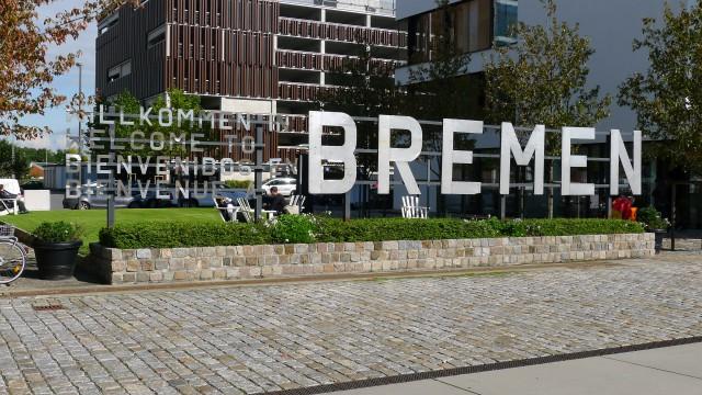 welcome sign Bremen
